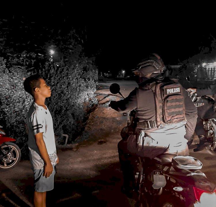 Unit Raimas Polres TTU Kembali Bubarkan Perkumpulan Warga