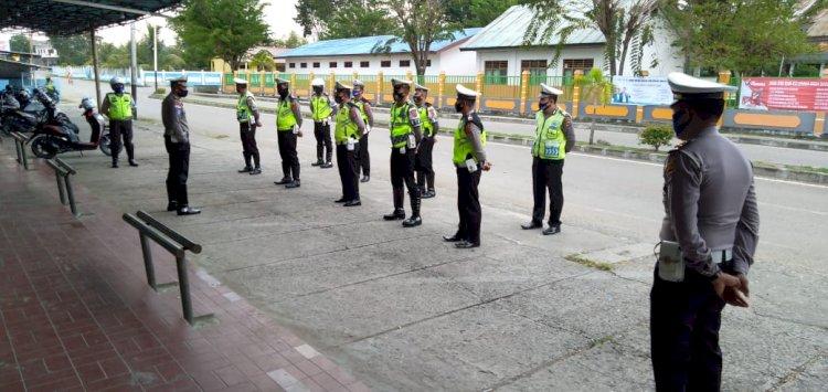New Normal, Kasat Lantas Polres TTU Ingatkan personil Tetap Waspada