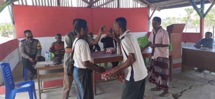 Peran Bahbinkamtibmas Desa Motadik dalam menyelesaikan masalah Penyerobotan Tanah