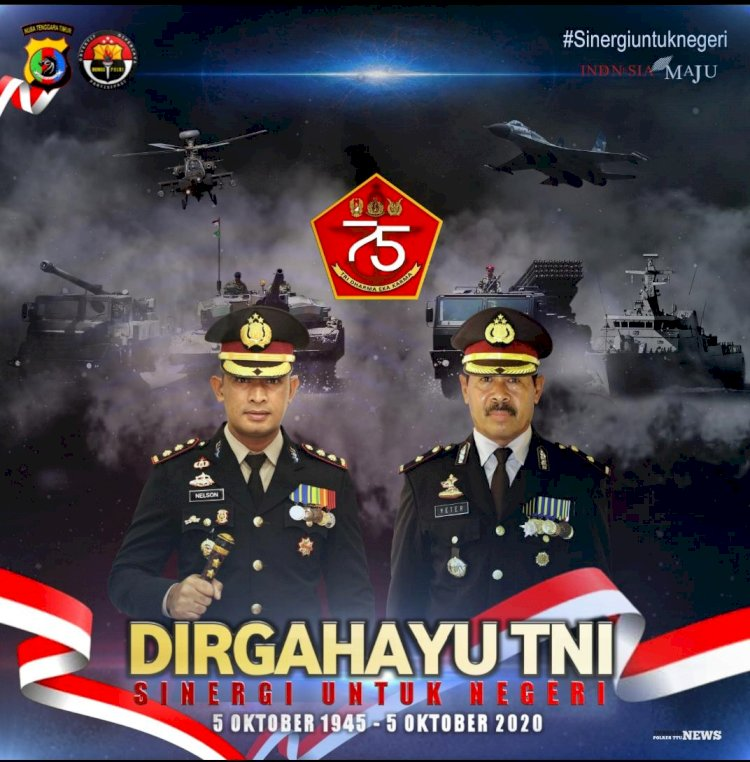 Upacapan Dirgahayu TNI dari Kapolres TTU bersama Jajaran