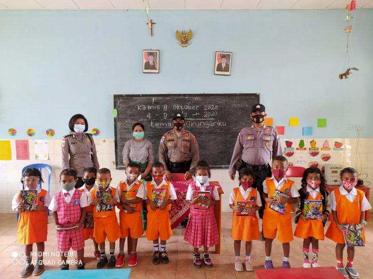 Edukasi Usia Dini Tertib Lalu Lintas,  Sat. Binmas Polres TTU Berikaan Sosialisasi Berlalu Lintas
