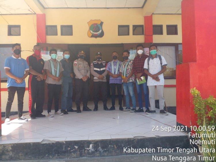 Mahasiswa KM3N Audiens Dengan Polsek Noemuti, Ini yang Dibahas