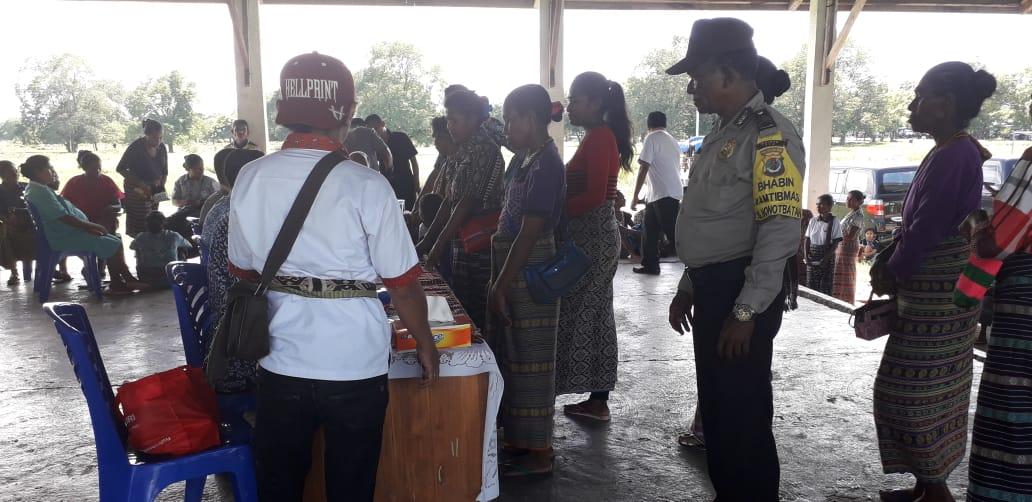 Launching Perdana Bansos, Jajaran Polres TTU lakukan Pengamanan