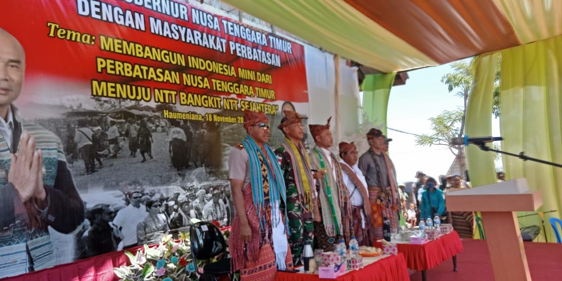Wakapolda NTT beserta rombongan disambut oleh tutur adat Bikomi Nilulat